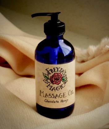 Chocolate Hemp Massage Oil